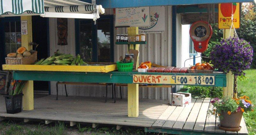 Kiosque de la ferme Anse au Sable